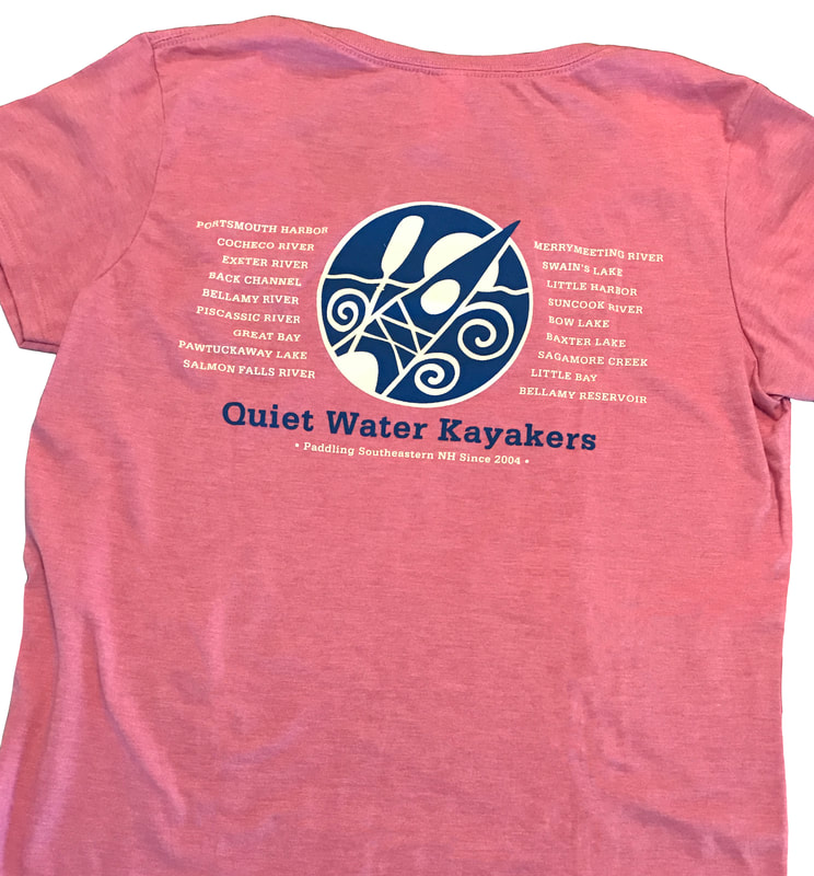 Quiet Water Kayakers t-shirt design.