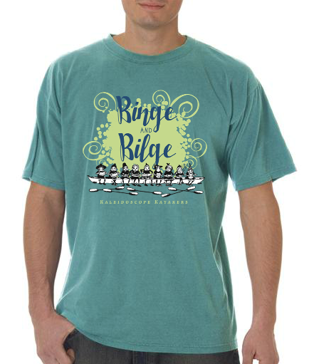 Kayak group t-shirt design.